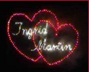 Lichterbild 2 Herzen mit 2 Namen