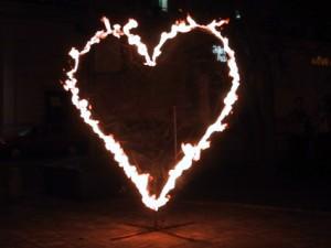 Flammeneffekte - hier das brennende Herz