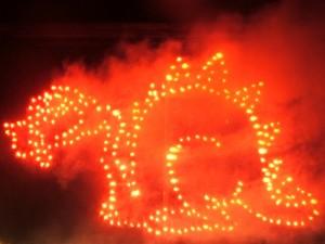 Lichterbild Pyromonster